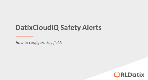 DatixCloudIQ Safety Alerts: Configuring key fields