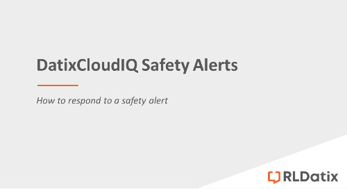DatixCloudIQ Safety Alerts: Responding to a safety alert