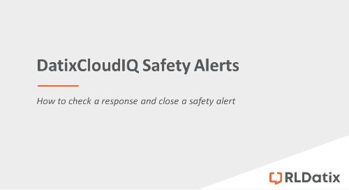 DatixCloudIQ Safety Alerts: Checking responses and closing a safety alert
