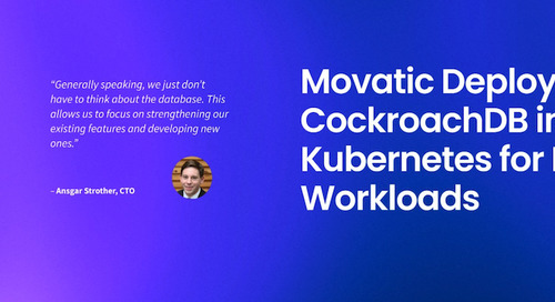 Movatic Deploys CockroachDB in Kubernetes for IoT Workloads