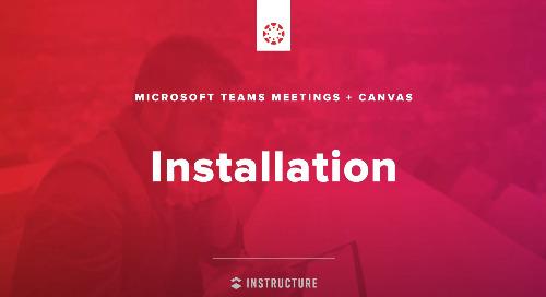 Video: Microsoft Teams & Canvas – Installation
