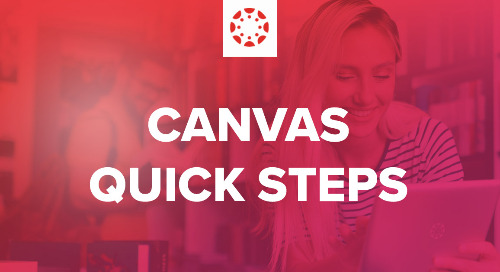 Quick Start Checklist for Teaching with Canvas