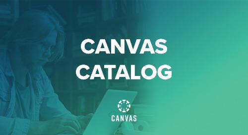 Product Infosheet: Canvas Catalog