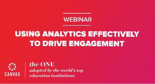 Webinar On Demand: Using analytics effectively to drive engagement