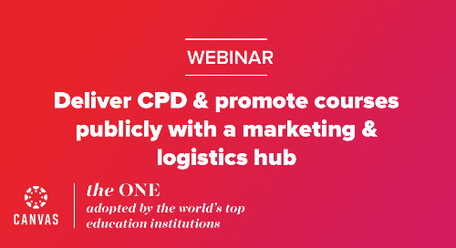 Webinar: Deliver CPD & promote courses publicly with a marketing & logistics hub