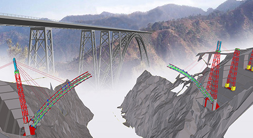 Chenab Bridge soars through construction process thanks to BrIM