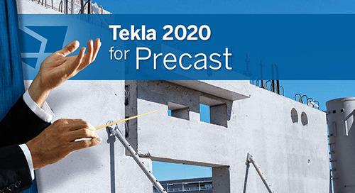 Tekla 2020 – Neuerungen für Betonfertigteile