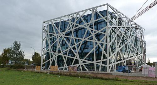 Qbig: Extravaganter Stahlbau in Heilbronn