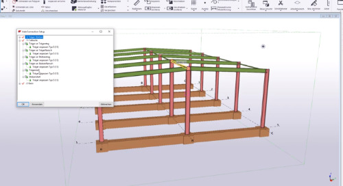 AutoConnections in Tekla Structures