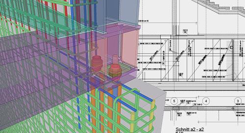 Schal- und Bewehrungsplanung bei 3Ki: Das 3D-Modell steht immer im Mittelpunkt
