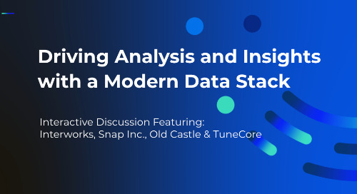Panel: Driving Analysis and Insights with a Modern Data Stack