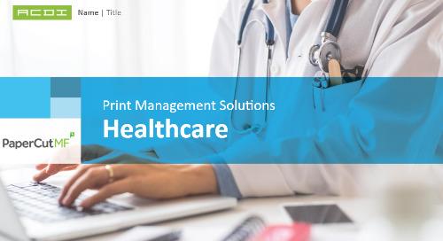 PaperCut Healthcare Vertical
