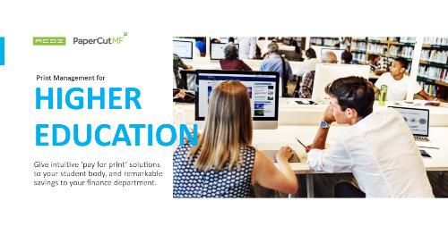 PaperCut Education Higher Education