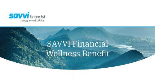 SAVVI Financial Wellness Fact Sheet