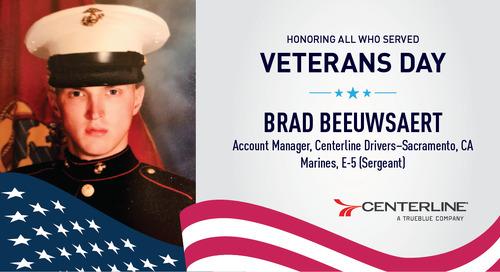 Celebrating Veterans Day at Centerline Drivers