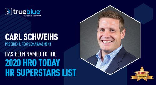 HRO Today Names Four TrueBlue Leaders as 2020 HR Superstars