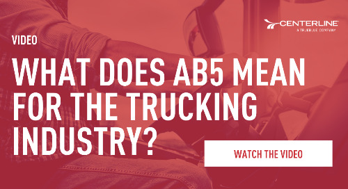 What does AB5 mean for the trucking industry?
