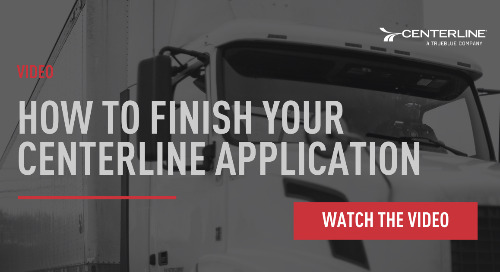 How to Finish Your Centerline Application