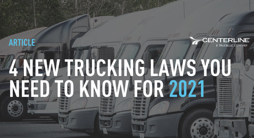 4 new trucking laws you need to know for 2021