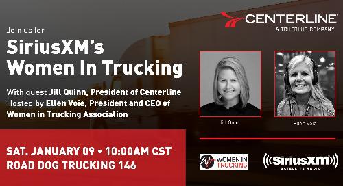 Centerline President Jill Quinn to Appear on Women on Trucking Radio on Jan. 9