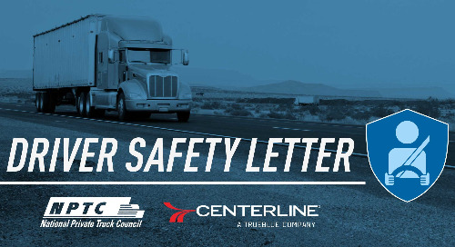 Centerline Drivers To Sponsor National Private Truck Council Safety Newsletter