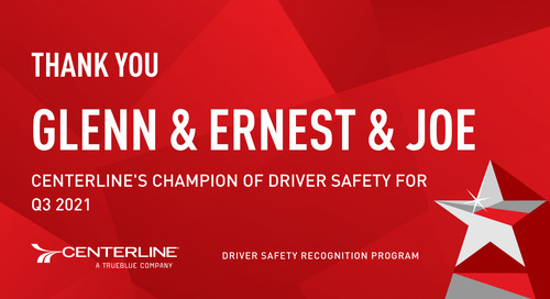 Congratulations to our Q3 Safety Recognition Program winners!