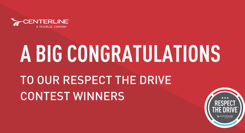 Congratulations to our Respect the Driver contest winners
