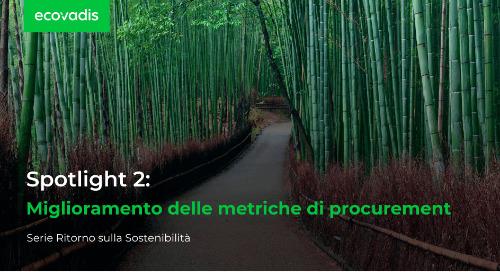 Spotlight 2: miglioramento delle metriche di procurement