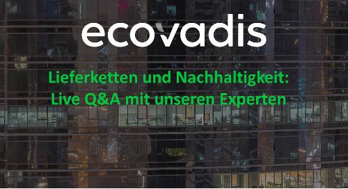 Live Q&A zu Lieferketten und Nachhaltigkeit