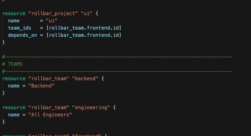 Announcing the Rollbar Terraform Provider For Managing Rollbar Automatically