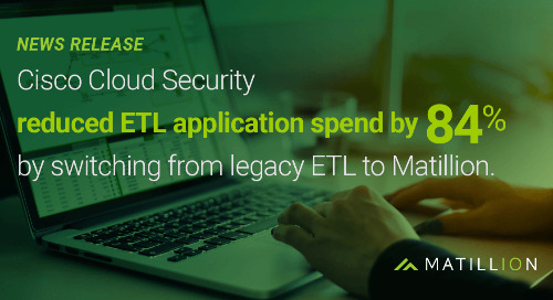 Cisco Cloud Security reduces ETL application spend by 84% by switching from Informatica to Matillion ETL for Snowflake