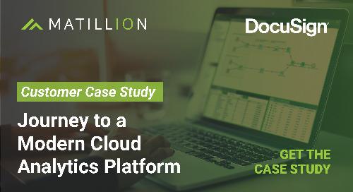 Journey to a Modern Analytics Platform with DocuSign