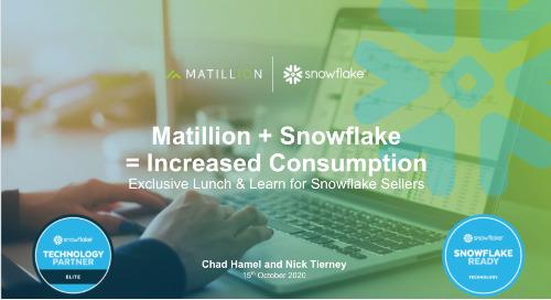 Snowflake + Matillion = Increased Consumption