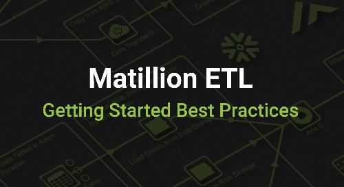 Matillion ETL Getting Started Best Practices