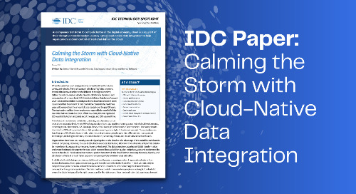 IDC Paper: Calming the Storm with Cloud Native Data Integration