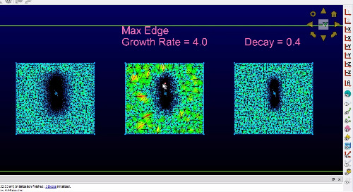 Max Edge Growth Rate vs. Boundary Decay