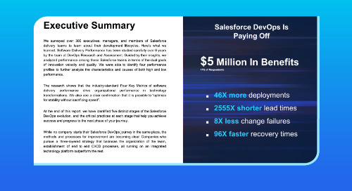 Hear the results of the new State of Salesforce DevOps report