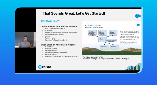 Build your Development Skills with Salesforce DX and Copado