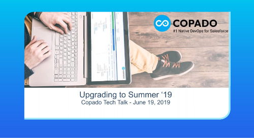 How to Upgrade to Summer '19 Version