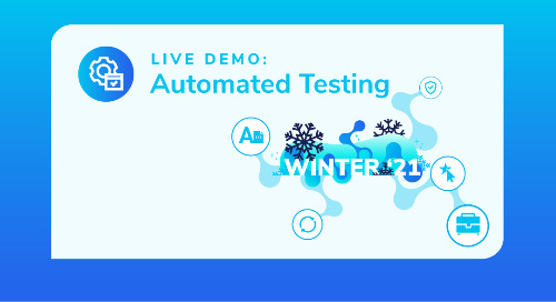 Winter 21 Live Demo: Automated Testing