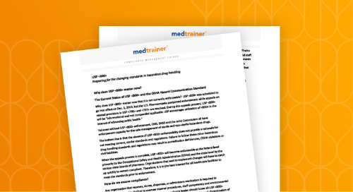 MedTrainer: Preparing for the changing standards in hazardous drug handling