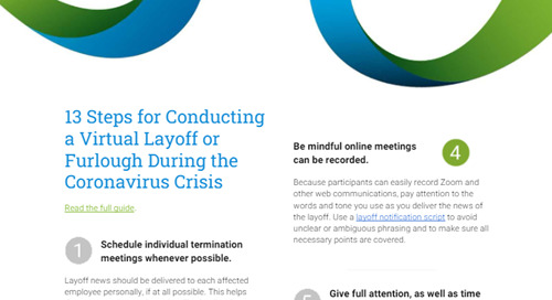13 Steps for Conducting a Virtual Layoff or Furlough
