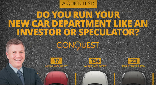 Do You Run Your New Car Department Like an Investor or a Speculator?