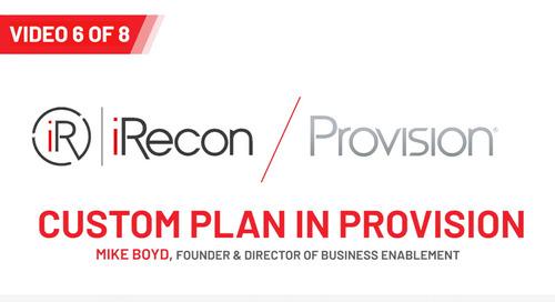 Custom Plans in Provision