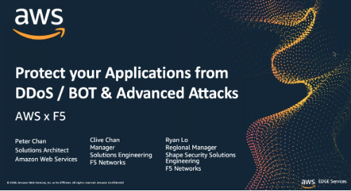 AWS Industry Webinar: Protect your Applications from DDoS Attacks