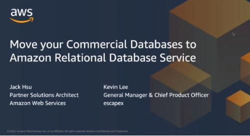 將你的商業數據庫遷移到 Amazon RDS