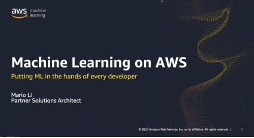 Machine Learning on AWS - with C&R (Cantonese Webinar)