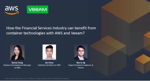 How to benefit from container technologies with Amazon and Veeam for FSI