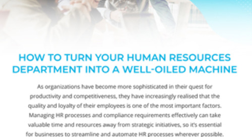 How to Turn Your Human Resources Department into a Well-Oiled Machine