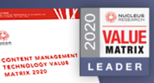 M-Files Earns Highest Leadership Position in 2020 Nucleus Research Content Management Technology Value Matrix Report